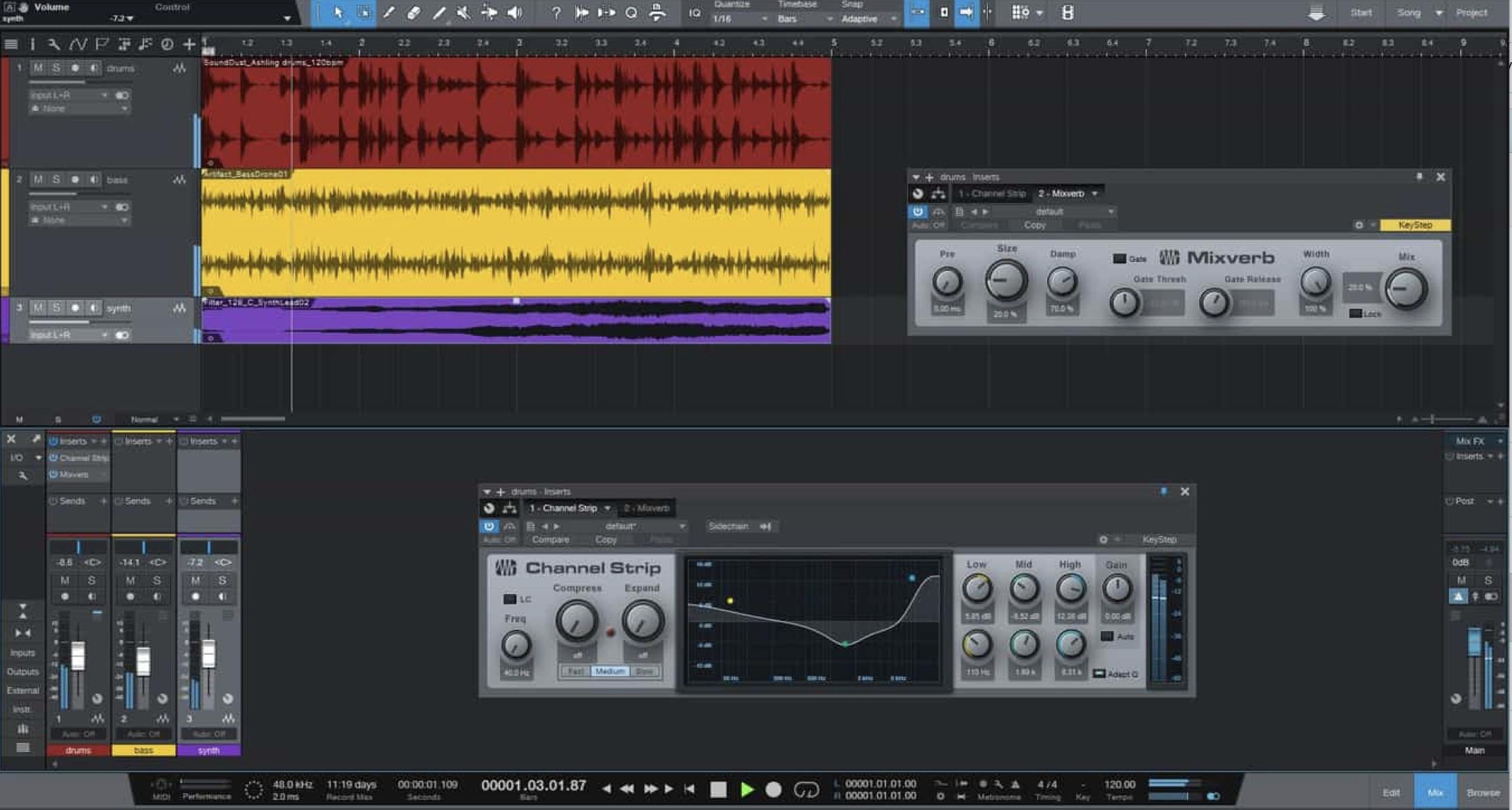Studio One Prime User Interface